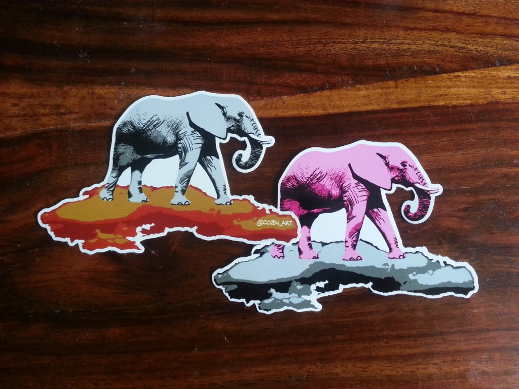 Nelly Barbar vinyl stickers by Cozen