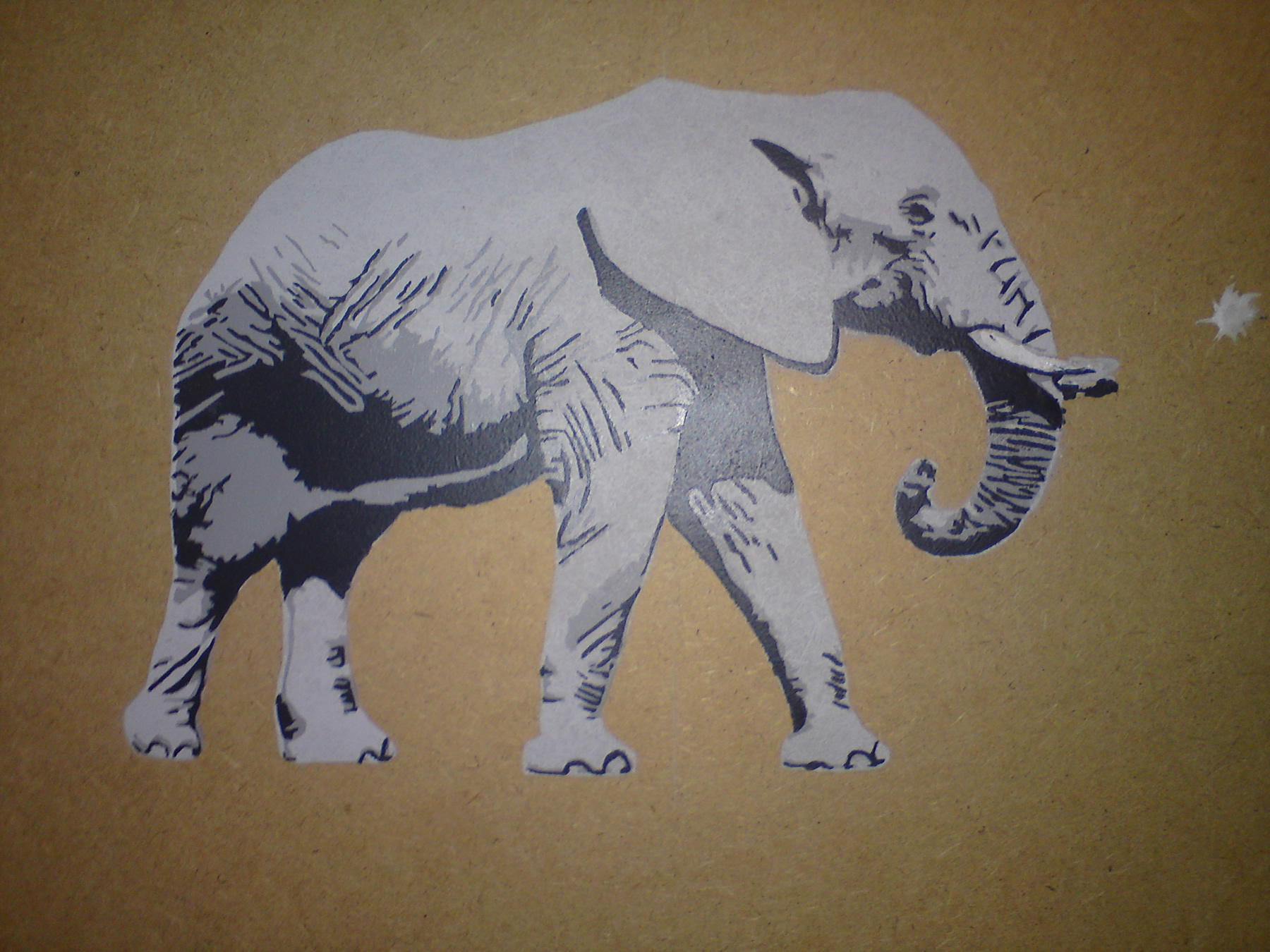 Gallery Of A Small Scale Test Of An Elephant Stencil